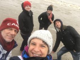 ballade sur la plage du Verdon