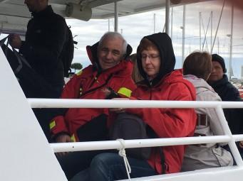 les parents sur le bateau