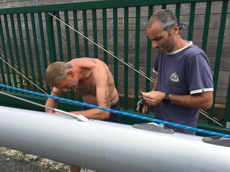 rivetage des marches de mât