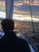 le capitaine sur son bateau